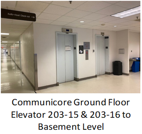 Communicore Building Ground Floor elevators